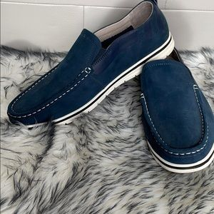 Belle Men's Blue Suede Shoes Size 9